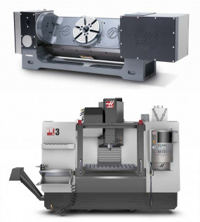 NEW HAAS VM-3 Vertical 3 Axis Mill with 5th axis rotary
